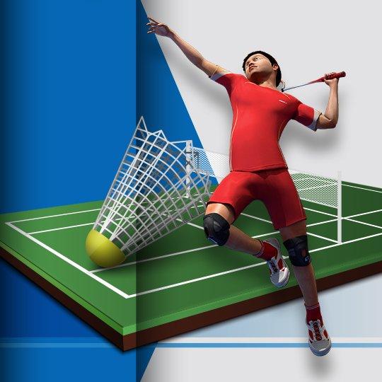 Virtual Badminton Virtual Game Idle Screen