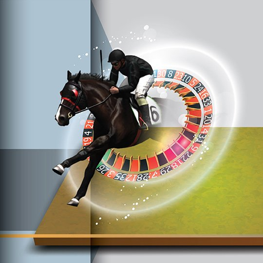 Virtual Horse Racing Roulette Virtual Game Idle Screen