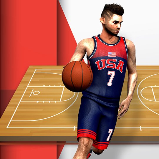 Virtual Basketball Virtual Game Idle Screen